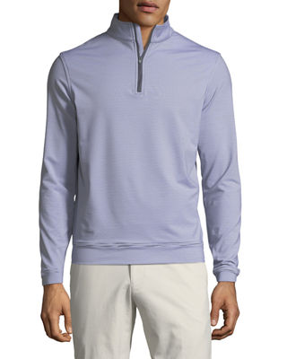 PETER MILLAR Men'S Perth Micro-Stripe Half-Zip Sweater in Beige
