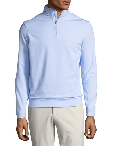 Men's Perth Micro-Stripe Half-Zip Sweater