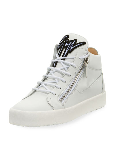 Men's Mid-Top Sneaker with Varsity Felt Logo