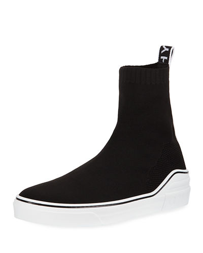 Men's George V High-Top Sock Sneakers with Logo