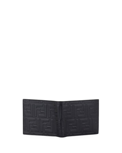 Men's FF Embossed Leather Bifold Wallet