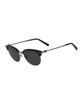Salvatore Ferragamo Men's Polarized Half-Rim Sunglasses