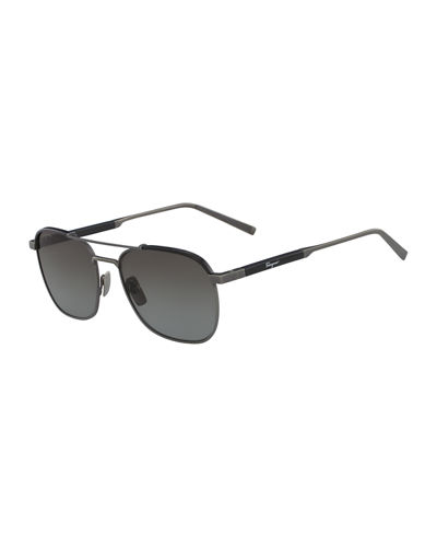 Men's Metal Polarized Navigator Sunglasses