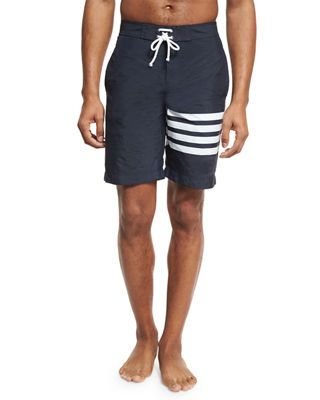 Thom Browne 4-Bar Striped Board Shorts