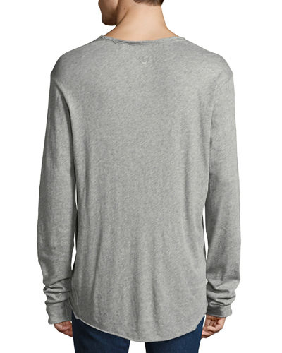Men's Hartley Long-Sleeve Linen T-Shirt