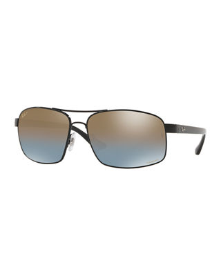 Ray-Ban Men's Square Chromance Metal Sunglasses