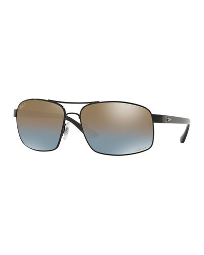 Men's Square Chromance Metal Sunglasses