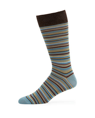 Neiman Marcus Men's Multi-Stripe Socks