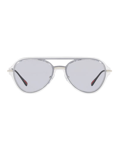 Men's Plastic Solid Aviator Sunglasses