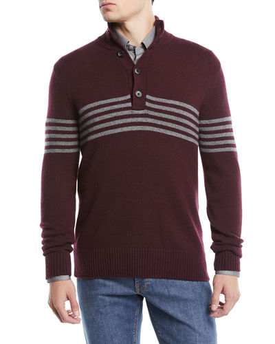 Men's Horizontal Striped Cashmere Sweater