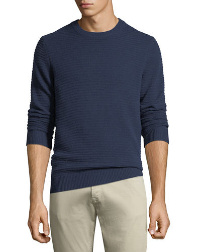 Men's Ribbed Cashmere Pullover Sweater