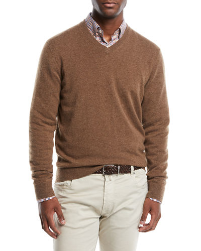 736b3325318455 Quick Look. Neiman Marcus · Men's Cloud Cashmere V-Neck Sweater
