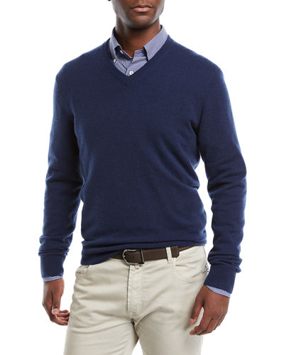 Men's Cloud Cashmere V-Neck Sweater