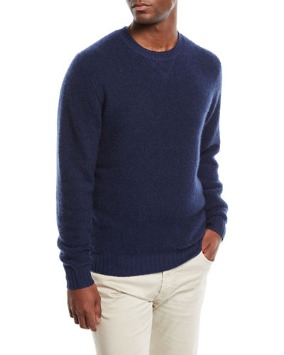Men's Cashmere/Nylon Crewneck Sweater