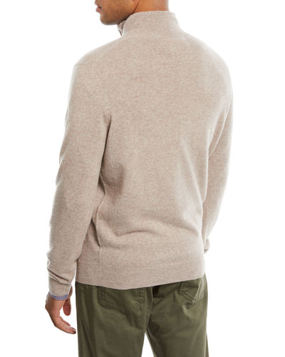 Men's Cashmere Half-Zip Sweater