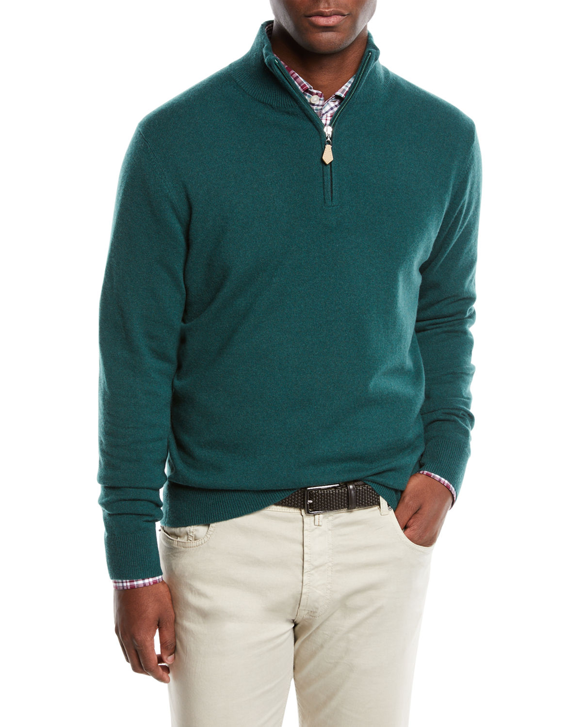 Men's Cashmere Quarter-Zip Sweater