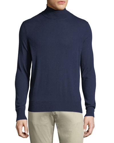 Men's Cashmere/Silk Turtleneck Sweater