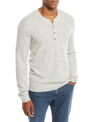 Neiman Marcus Cashmere Collection Men's Crewneck Speckled