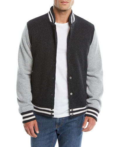 Men's Cashmere Baseball Jacket
