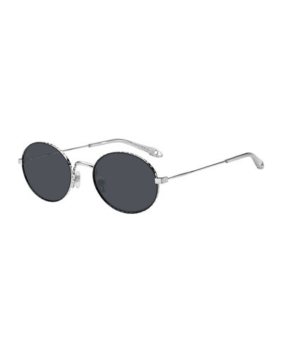 Men's Round Metal Sunglasses