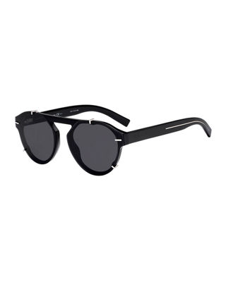 Dior Men's Round Clipped Optyl?? Sunglasses