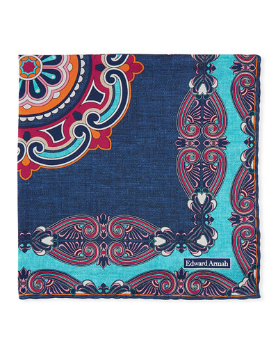 Scarf-Print Pocket Square
