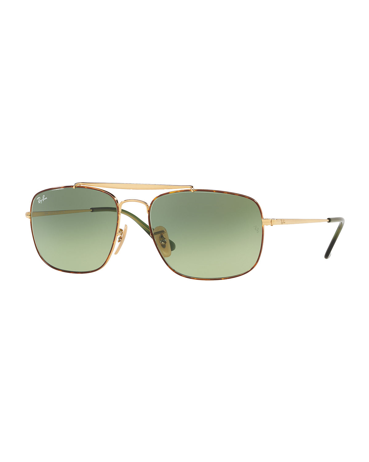 Men's The Colonel 58mm Square Metal Aviator Sunglasses