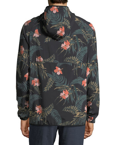 Ignite Floral-Print Anorak Pullover Jacket