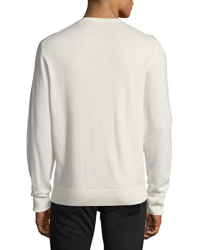 Washed Wool Crewneck Sweater
