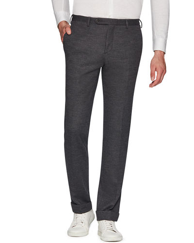 Josh Jersey Wool Slim Straight-Leg Dress Trousers