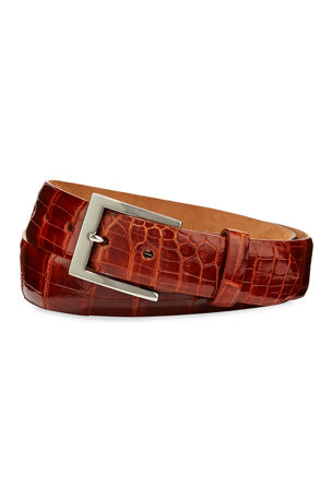 W. Kleinberg Men's American Alligator Belt