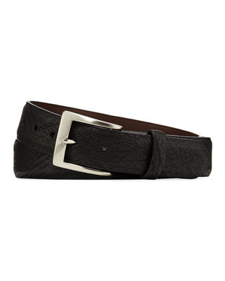 W. KLEINBERG Men'S Sharkskin Belt in Black