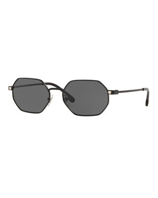 Versace Men's Geometric Metal Sunglasses