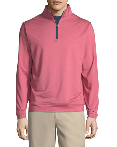 Perth Quarter-Zip Melange Sweatshirt