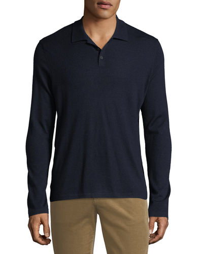 b9ba06f1f53 Quick Look. Vince · Men s Long-Sleeve Wool Cashmere Polo Shirt