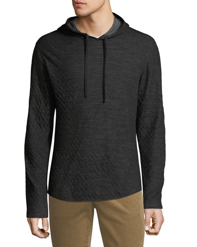 Men's Contrast Double Knit Jersey Hoodie