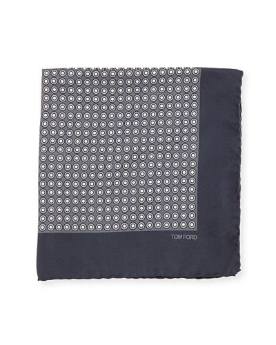 Neat Dot Silk Twill Pocket Square