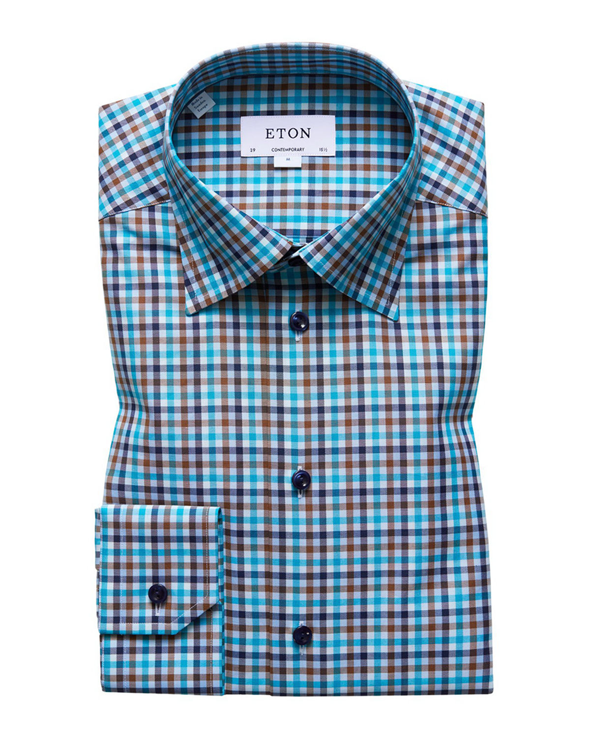 Men's Contemporary-Fit Plaid Dress Shirt