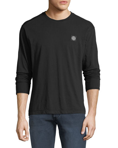 Men's Chest-Logo Long-Sleeve T-Shirt