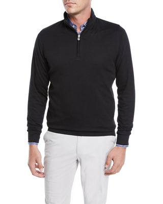 Peter Millar Men's Crown Comfort Quarter-Zip Sweater