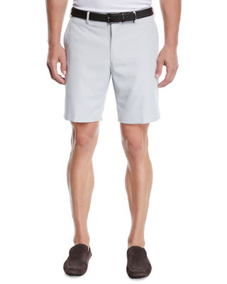 Salem High Drape Performance Shorts in British Grey