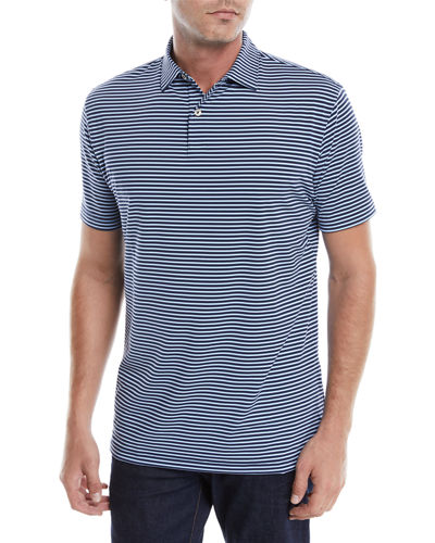 Men's Tour-Fit Joyce Stripe Performance Polo Shirt