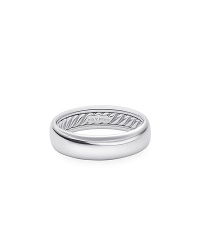 Men's 18k White Gold Smooth Band Ring