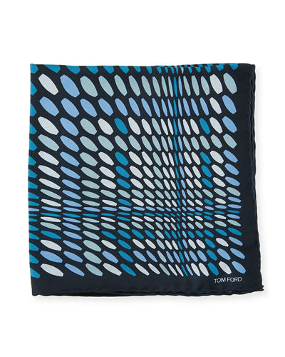Dot Pattern Silk Pocket Square