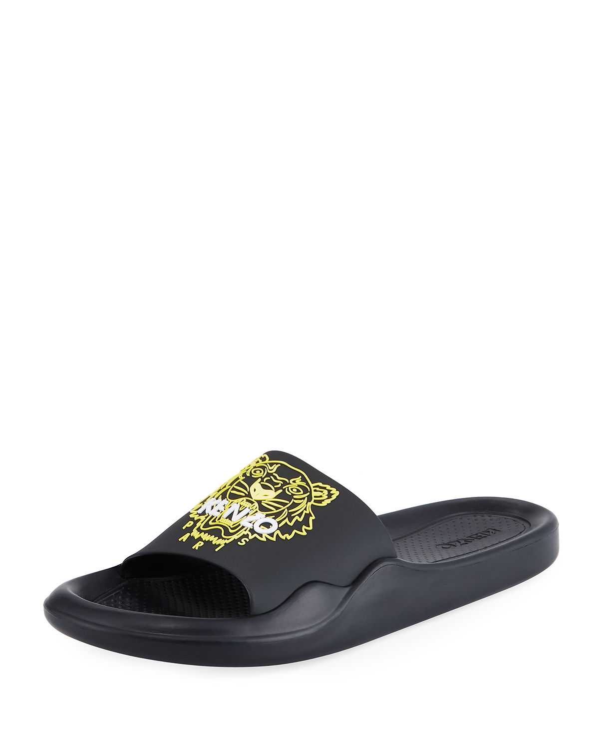 b9fbb3a7 Kenzo Men's Logo EVA Pool Slide Sandals | Neiman Marcus