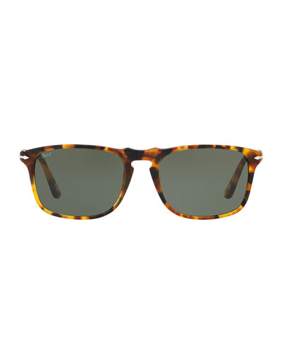 Men's PO3059S Square Acetate Sunglasses