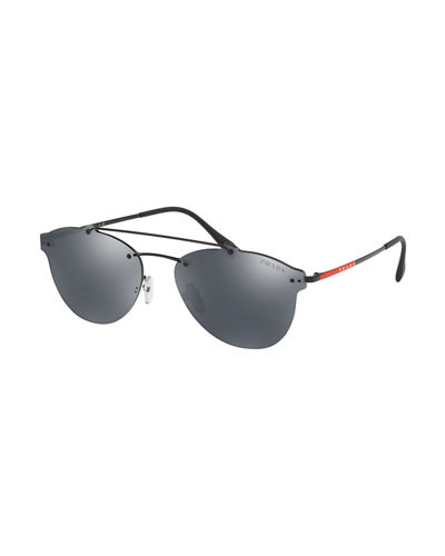 Men's PS55TS Rimless Aviator Sunglasses