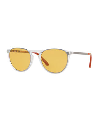 Burberry Men's Round Propionate Sunglasses