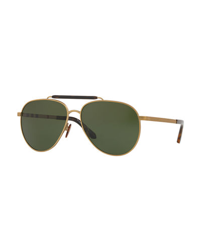 Men's 59mm Aviator Sunglasses