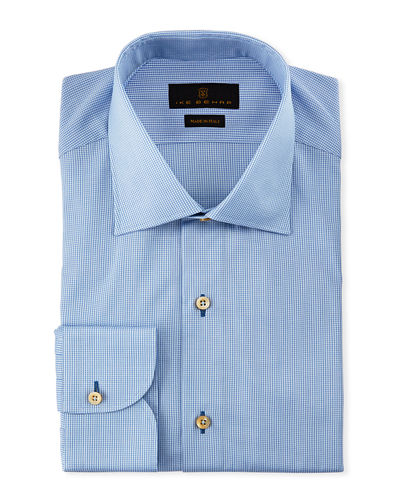 Marcus Solid Cotton Barrel-Cuff Dress Shirt